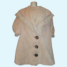 Lovely Antique Child / Large Doll Coat, Pale Lavender Corduroy