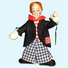 "Vintage 4 1/2"" Liliput Clown, Made in Germany"