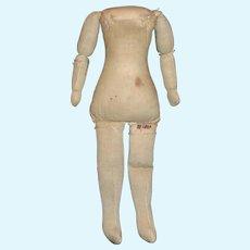 Nice Old Cloth Doll Body, China, Cloth Papier Mache