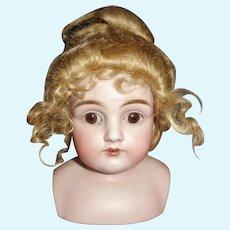 Nice Blond Mohair Doll Wig,