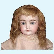 Antique Dark Blond Human Hair Doll Wig.