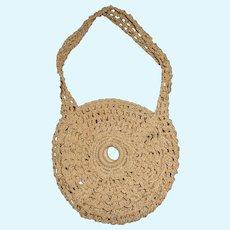 Lovely Early Ecru Crocheted Doll Purse