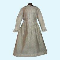 Antique Cotton Doll Dress for a Papier Mache, Cloth, China
