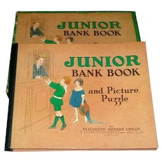 Vintage Junior Bank Book and Picture Puzzle