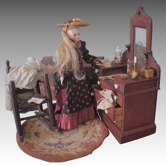 """Early German Fashion Doll, 18"""""""