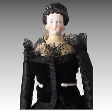 """Stunning and Rare 21"""" China Head Lady Doll, ca. 1860s ~ possibly a Comte & Boheme"""