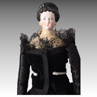 "Stunning and Rare 21"" China Head Lady Doll, ca. 1860s ~ possibly a Comte & Boheme"
