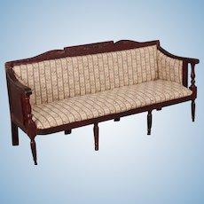 "Large Antique ""Jane Austen"" Regency Style Doll Sofa"