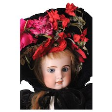 Fabulous Antique French Hat for Large Doll ~ Jumeau. Bru. Steiner. FG