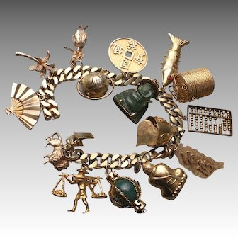 Fabulous Vintage Charm Bracelet with Charms