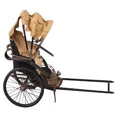"Vintage Chinese Miniature Rickshaw, 12"" High"