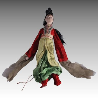 Rare Antique Chinese Opera Doll, circa late 1800s ~ early 1900s