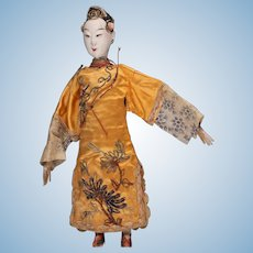 "Antique Chinese Opera Doll, 9 - 1/2"", ca. late 1800s ~ 1920,"