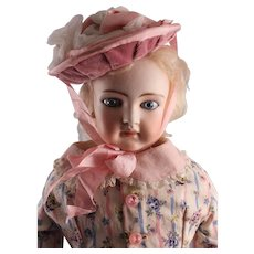 "Exquisite Early German 24"" Closed Dome Fashion Doll"