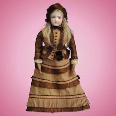 "21"" Jumeau Portrait Fashion Poupee, ca. 1870-1875"