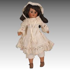 """Adorable & Rare 14"""" Antique Creole Brown Bisque Socket Head Doll, Unis France"""
