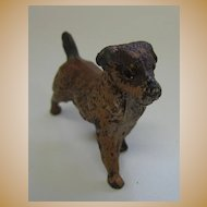Antique Austrian Vienna Bronze miniature brown dog