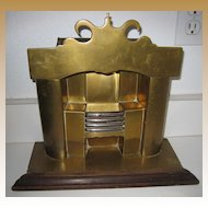 Large antique Brass miniature Fireplace doll vignette doll house Christmas display