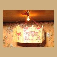 German miniature antique dollhouse Chandelier Fretwork wood chandelier