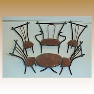 Bentwood Antique Thonet style doll house miniature furniture