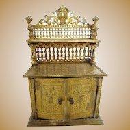 Antique miniature dollhouse furniture German Erhard & Söhne Ormolu Sideboard