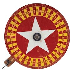 Antique Carnival Casino Game Wheel of Chance