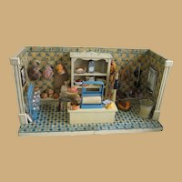 Antique Christian Hacker Butcher shop room box