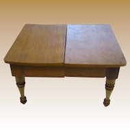 Antique German Schneegas doll house miniature wood table