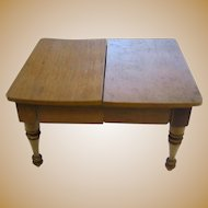 Antique German Schneegas doll house miniature wood table