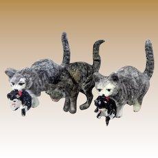 Metal small miniature Cat Kittens