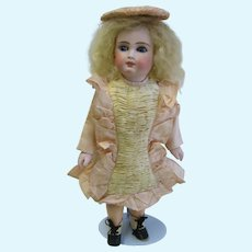 """Antique Belton type French face bisque 13"""" doll"""