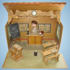 Antique French Ecole school musical mechanical automaton