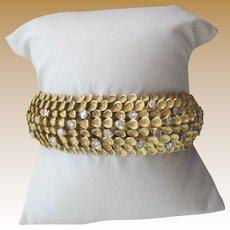 18k Yellow Gold Diamond Serpentine design custom Bracelet