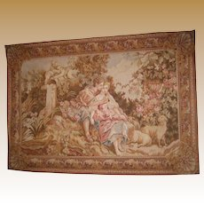 Antique wool handmade woven Tapestry Romantic Couple wall decor