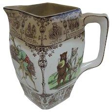 Antique Roosevelt Bears Buffalo pottery pitcher