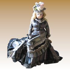 """Antique French Fashion bisque doll 12"""""""