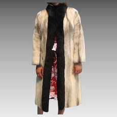 Natural Black Shadow cross mink coat