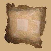 Decorative beige lace antique small pillow