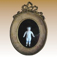 Antique framed small Frozen Charlotte
