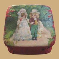 German Antique children Valentine candy container small box
