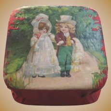 German Antique children Valentine candy container small box
