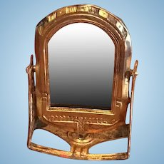 Antique Ormolu German Art Deco Miniature doll house Tilting mirror