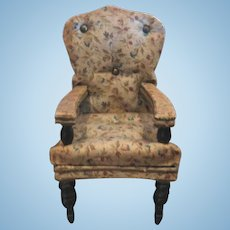 Antique floral decorative doll house arm chair