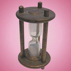 Antique miniature brass small Hour Glass