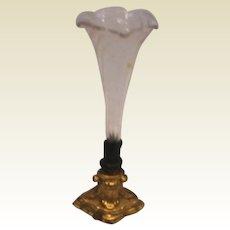 Antique Miniature Doll House Erhard & Söhne Ormolu fluted glass Vase