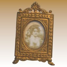 Antique Miniature Doll House Ormolu picture decorative frame