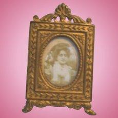 Antique Miniature Doll House Ormolu picture decorative frame