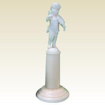 Antique French miniature doll house Cherub statue