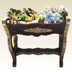 Antique French Miniature Dollhouse jardiniere plant stand