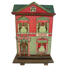 Antique small German paper litho Doll house